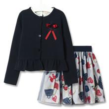 Комплект для девочки 3 в 1 Модница, синий (код товара: 51829)