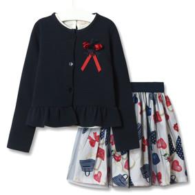 Комплект для девочки 3 в 1 Модница, синий оптом (код товара: 51829): купить в Berni