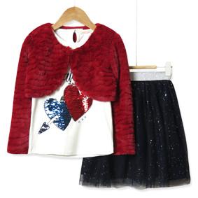 Комплект для девочки 3 в 1 See you later, красный оптом (код товара: 51801): купить в Berni