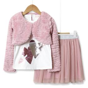 Комплект для девочки 3 в 1 See you later, розовый оптом (код товара: 51800): купить в Berni
