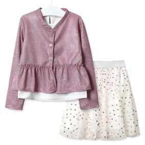 Комплект для девочки 3 в 1 Зонтик, розовый оптом (код товара: 51826): купить в Berni
