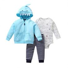 Комплект для мальчика 3 в 1 Маленькая акула (код товара: 51809)