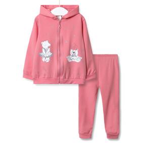 Костюм для девочки 3 в 1 Маленькая звезда, розовый оптом (код товара: 51890): купить в Berni