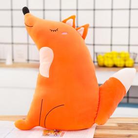 Мягкая игрушка - подушка Довольная лисичка, 50см (код товара: 51832): купить в Berni