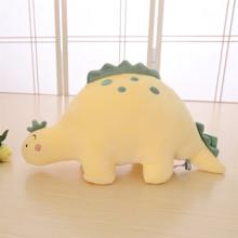 Мягкая игрушка - подушка Плюшевый динозавр, желтый, 30см (код товара: 51868)