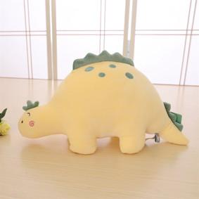 Мягкая игрушка - подушка Плюшевый динозавр, желтый, 30см (код товара: 51868): купить в Berni