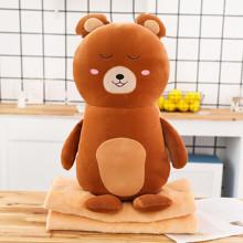Мягкая игрушка - подушка с пледом Плюшевый медведь, 50см (код товара: 51864)