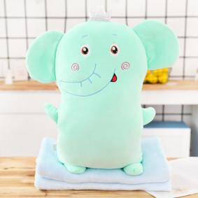 Мягкая игрушка - подушка с пледом Плюшевый слон, 50см (код товара: 51866): купить в Berni