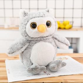 Мягкая игрушка - Серый совушек, 30см оптом (код товара: 51861): купить в Berni