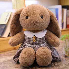 Мягкая игрушка - Зайка в платье, коричневый, 50см оптом (код товара: 51855): купить в Berni