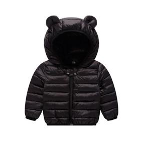 Куртка-пуховик детская Ушастик, черный (код товара: 51901): купить в Berni
