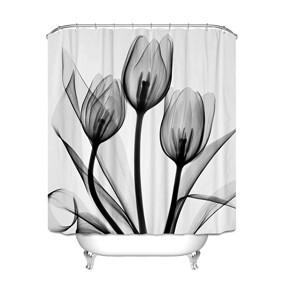 Штора для ванной Чёрные тюльпаны 180 х 180 см оптом (код товара: 51960): купить в Berni