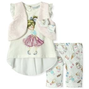 Костюм 3 в 1 для девочки Baby Rose (код товара: 5227): купить в Berni