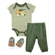 Комплект для мальчика 3 в 1 Дикие звери (код товара: 52108)