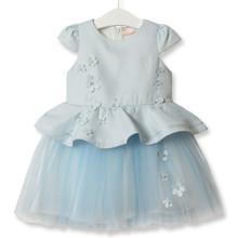 Платье для девочки Симфония цветов, голубой (код товара: 52133)
