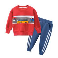 Костюм для мальчика утеплённый Дорога, красный (код товара: 52277)