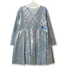 Платье для девочки Диско, голубой оптом (код товара: 52218)