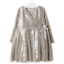 Платье для девочки Диско, серебряный (код товара: 52219)
