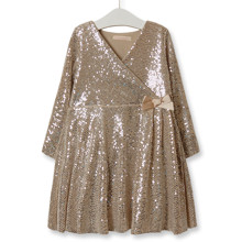 Платье для девочки Диско, золотой оптом (код товара: 52221)
