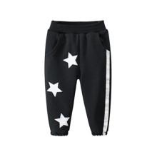 Штаны детские утеплённые Белые звёзды, чёрный (код товара: 52259)
