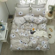 Уценка (дефекты)! Комплект постельного белья Цветы (двуспальный-евро) (код товара: 52225)