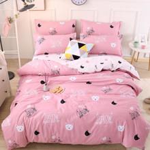 Уценка (дефекты)! Комплект постельного белья Коты (двуспальный-евро) (код товара: 52234)