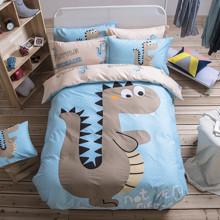 Уценка (дефекты)! Комплект постельного белья Маленький динозавр (двуспальный-евро) (код товара: 52237)