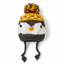 Шапка дитяча зимова Пінгвін з бубоном оптом (код товара: 52453)