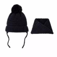 Шапка + снуд детская зимняя Идеал, чёрный (код товара: 52444)