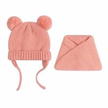 Шапка + снуд для девочки зимняя Гармония, розовый оптом (код товара: 52468)