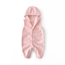 Комбинезон для девочки флисовый утеплённый Маленькое сердечко, светло-розовый (код товара: 52531)
