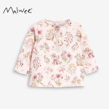 Лонгслив для девочки Цветы на розовом (код товара: 52574)