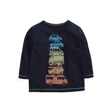 Лонгслив для мальчика Разноцветные автомобили (код товара: 52577)