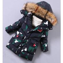 Куртка зимняя детская Зелёные осколки (код товара: 52623)