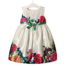 Платье для девочки Пионы, зеленый (код товара: 52642)