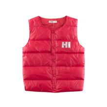 Жилет для девочки демисезонный Hi, красный оптом (код товара: 52724)