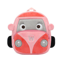 Рюкзак велюровый Car, розовый (код товара: 52906)