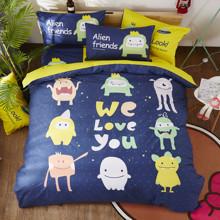 Комплект постельного белья Alien friends (полуторный) (код товара: 53176)