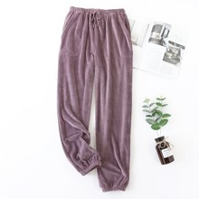 Штаны женские домашние велюровые Мерцание, фиолетовый (код товара: 54006)