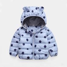 Куртка-пуховик детская Синий горошек оптом (код товара: 54134)