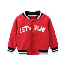 Кофта утепленная для мальчика Let's play, красный оптом (код товара: 54409)