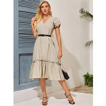 Платье женское с поясом Calm (код товара: 54580)