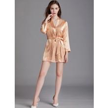 Халат домашний женский Lace, оранжевый (код товара: 54904)