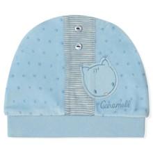 Велюровая шапка для новорожденного мальчика Caramell (код товара: 5501)