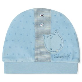 Велюровая шапка для новорожденного мальчика Caramell оптом (код товара: 5501): купить в Berni