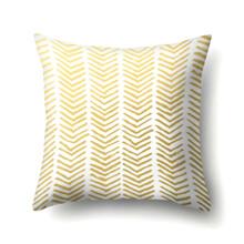 Наволочка декоративная Golden stripe 45 х 45 см (код товара: 56269)