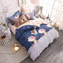 Уценка (дефекты)! Комплект постельного белья Щенки (двуспальный-евро) (код товара: 56272)
