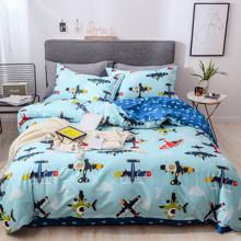 Уценка (дефекты)! Комплект постельного белья Аэроплан (полуторный) (код товара: 56329)