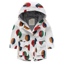 Куртка дитяча подовжена Colored circles оптом (код товара: 56452)