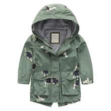 Куртка дитяча подовжена Dinosaurs оптом (код товара: 56451)